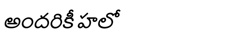 Preview of Annamayya Bold Italic