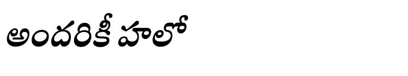 Preview of Mandali Bold Italic