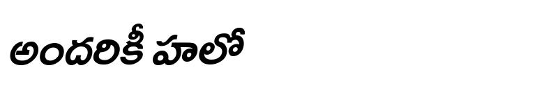 Preview of Ramabhadra Italic
